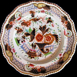 Grainger Worcester Plate, English Imari Pattern 1509, Antique Porcelain c1825