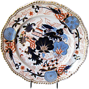 "Grainger, Lee & Co. Worcester Plate, Antique Early 19th C English Imari,  ""Blue Ball Japan"""
