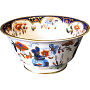 Rare Joseph Machin Waste Bowl, English Imari Porcelain, Antique 19th C