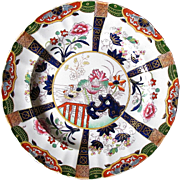 Ashworth/Mason Ironstone Plate, Muscovy Ducks, Antique 19th C English Chinoiserie