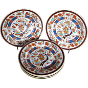 Minton Plates, Set of Six, Antique First Period, Pseudo Sèvres Mark, Rare Early 19th C English Chinoiserie