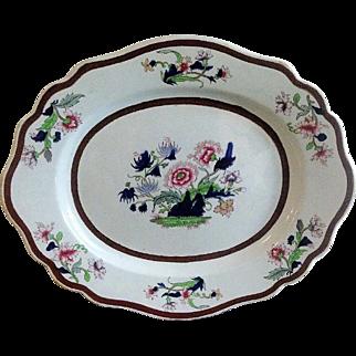 John Ridgway Large Platter, Imperial Stone China, Antique Early 19th C English
