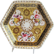 Teapot Stand, John & William Ridgway Porcelain, Antique Early 19th C English