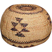 Hupa Indian Basket, California, Vintage Native American