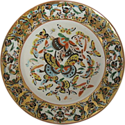 Chinese Export Plate, Canton 100 Butterfly Pattern,  Antique 19th C