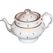Minton Teapot, English Bone China, Antique c 1825, Pretty & Functional