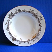 Mintons  Soup Bowl, Lothian Pattern, Gold Rimmed, Vintage English China