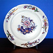 Davenport Plate, Stone China ,  Transferware Pattern 659, Antique 19th C English