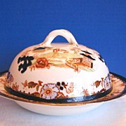 Muffin Dish & Cover, English Porcelain, Chinoiserie,  Antique 19th C, Slamat