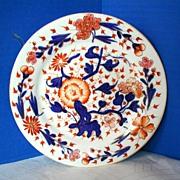 John Rose Coalport Plate,English Imari, Antique Early 19th C Porcelain