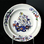 Davenport Muffin Plate, Stone China,  Antique 19th C English