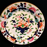 Coalport Plate, John Rose Feltspar Porcelain, Antique 19thC English Imari