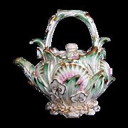 Coalbrookdale Miniature Teapot, Signed, John Rose Coalport, Antique 19th C English