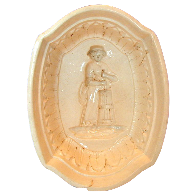 Rare Herculaneum Stoneware Jelly Mould/Mold, Antique Early 19th C English
