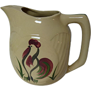 Watt Pottery Rooster Square Refrigerator Pitcher