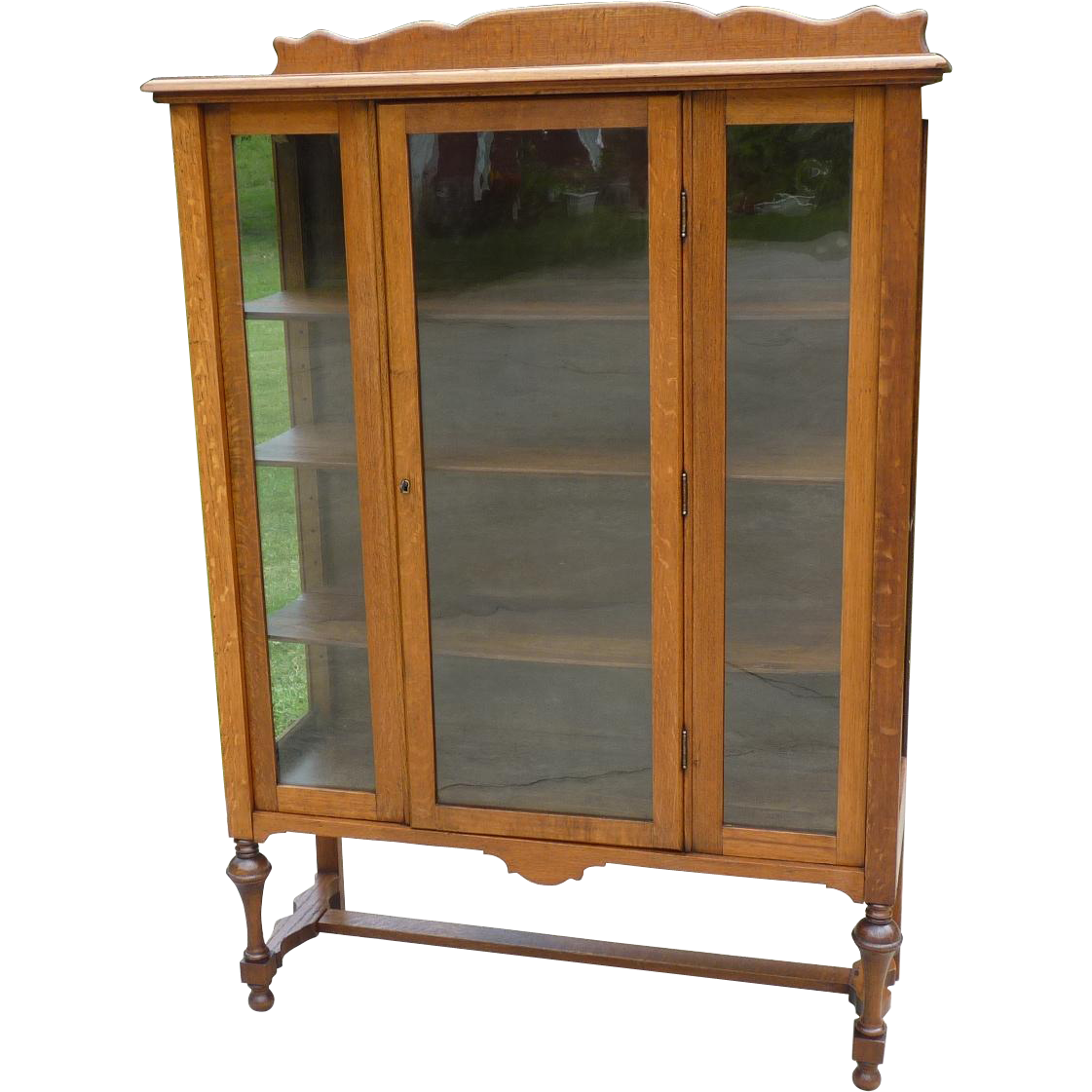 China Curio: Oak China Cabinet Curio SOLD On Ruby Lane