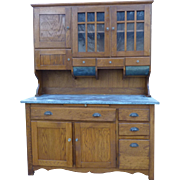 Oak Kitchen Bakers Cabinet