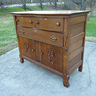 Oak Sideboard Server Chest