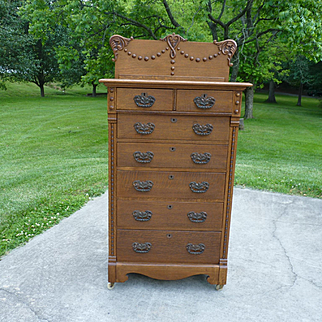 Oak Lingerie Chest Highboy