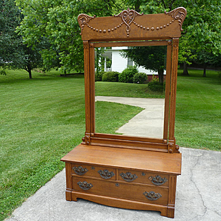 Oak Lowboy Chest Dresser