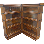 Oak Corner 8 Stacking Lawyer Barrister Bookcase