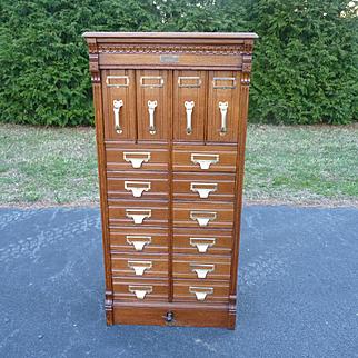 Oak Document File Cabinet