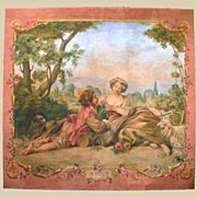 Beautiful 19th Century Painted Canvas