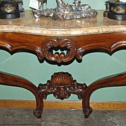 Gorgeous French Marble Top Console