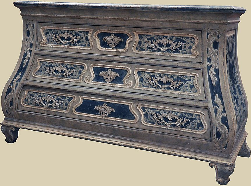 Exceptional 19th C. Painted Commode