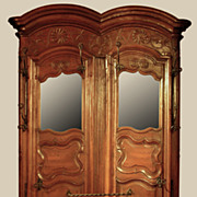 Nicely Carved Walnut French Hall Stand