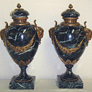 Beautiful Pair of Marble Cassolettes