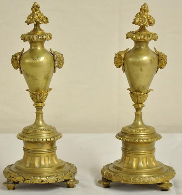 Pretty Pair Of French Bronze Cassolettes