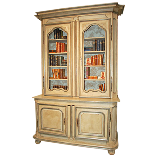 18th Century French Painted Cabinet à Deux Corps