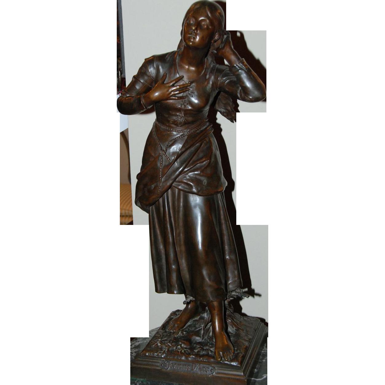 """Bronze Sculpture, """"Joan of Arc"""""""