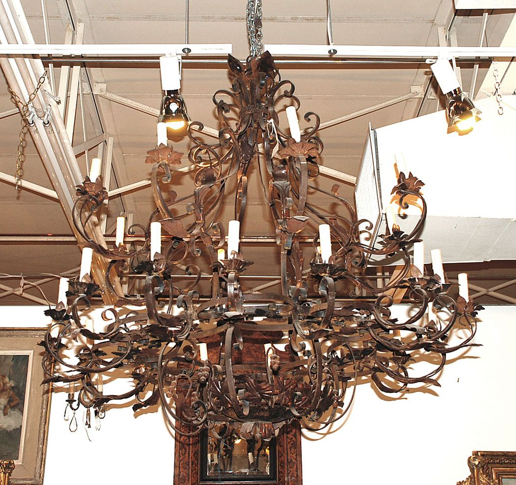 Scrolled Iron Chandelier