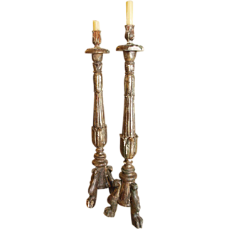 Pair of 18th Century French Candleholders