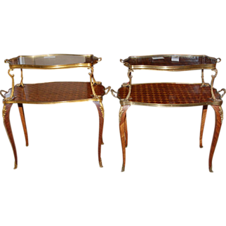 Two French Louis XV Style Tea Tables