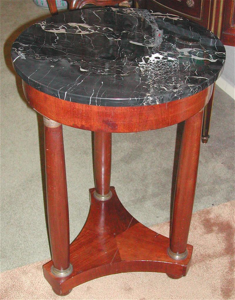 French Empire Style Marble-Top Table