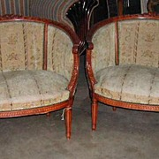 Darling Pair of Louis XVI Style Chairs