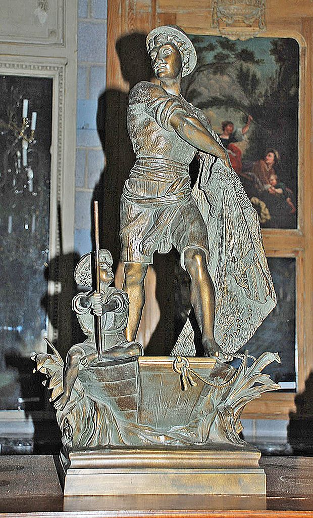 "French Spelter ""Boat Scene"""