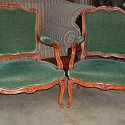 Lovely Pair of Louis XV Style Fauteuils