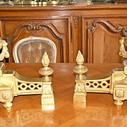 Gorgeous Dore Bronze Louis XVI Style Chenets