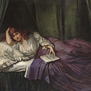 "Stunning Oil on Canvas, ""A Bedtime Read"""