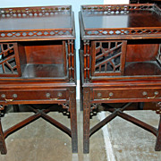Pair of Revolving Bookcase End-tables