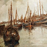 """Fishing Boats in the Harbor"""