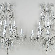 Beautiful Pair of Louis XV Style 8-light Sconces