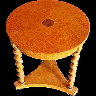 Biedermeier Veneered Table
