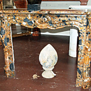 Louis XIV Style Marble Mantle