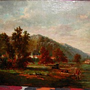 European Landscape Oil on Canvas, G.Lauters
