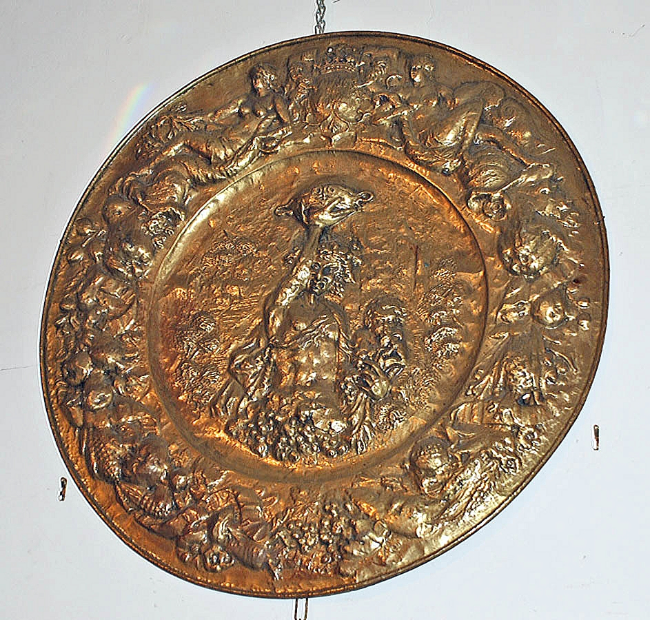 French Bronze Medallion of Backus the King of Wine